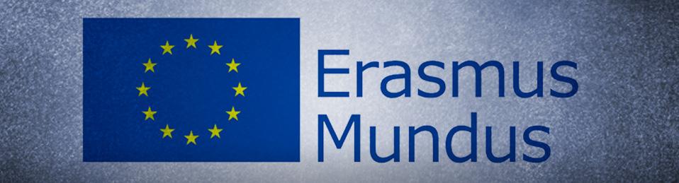 Logo de la Unión Europea con el texto Erasmus Mundus
